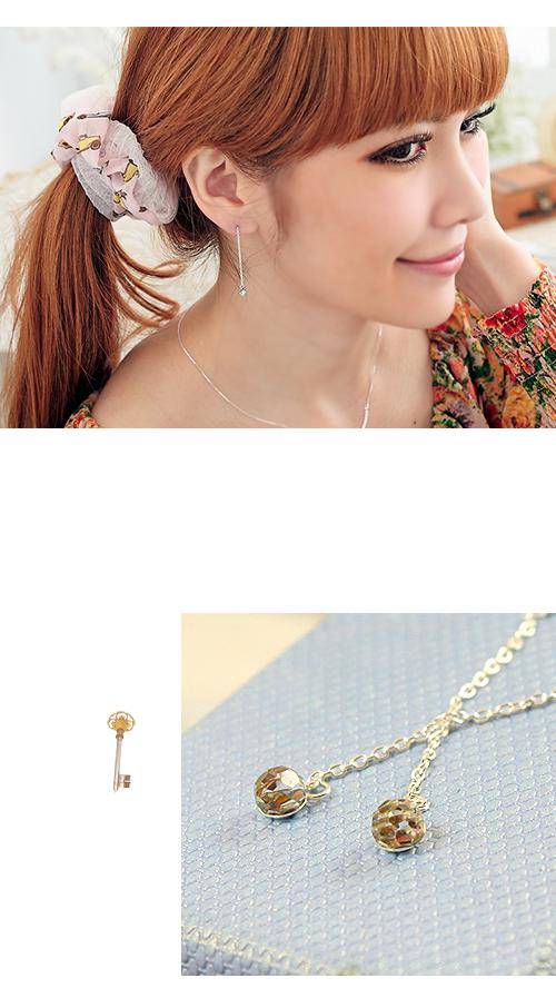垂式,彩球,水鑽,純銀針耳環,銀飾,925純銀耳環,抗過敏耳環