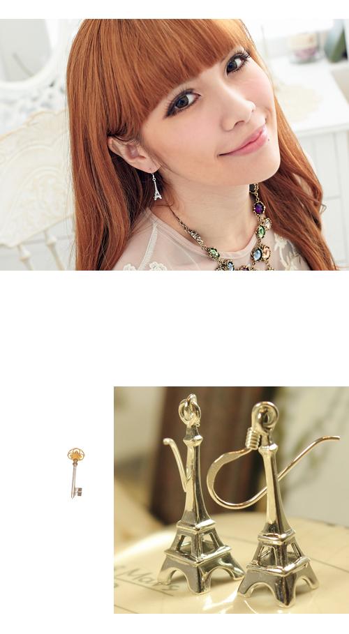 鐵塔,純銀針耳環,925純銀耳環,抗過敏耳環