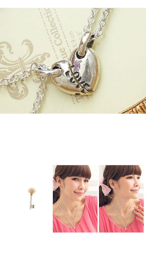 愛心,情人對鍊,對鍊,項鍊,925純銀項鍊,純銀飾品,925純銀