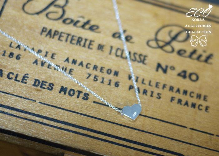 愛心,情人節,鎖骨項鍊,925純銀項鍊,純銀飾品