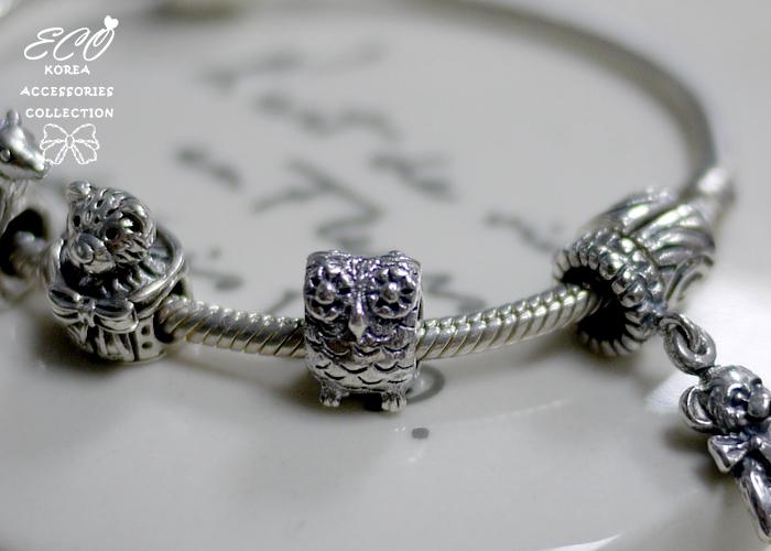 潘朵拉,豆豆,純銀手鍊,貓頭鷹,925純銀手鍊,純銀飾品