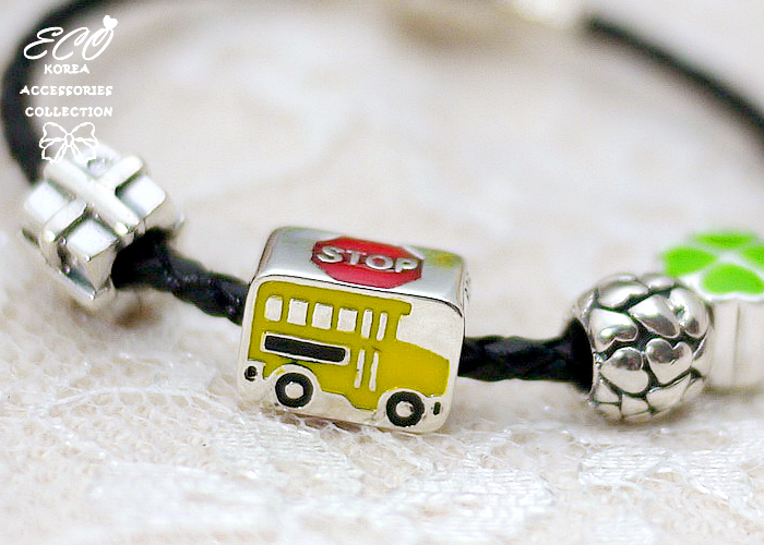 公車,STOP,豆豆,潘朵拉,巴士,925純銀墜子,純銀飾品