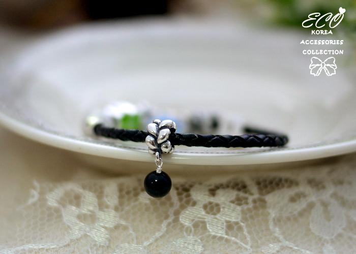 水滴紋路,小黑珠,豆豆,潘朵拉,925純銀墜子,純銀飾品