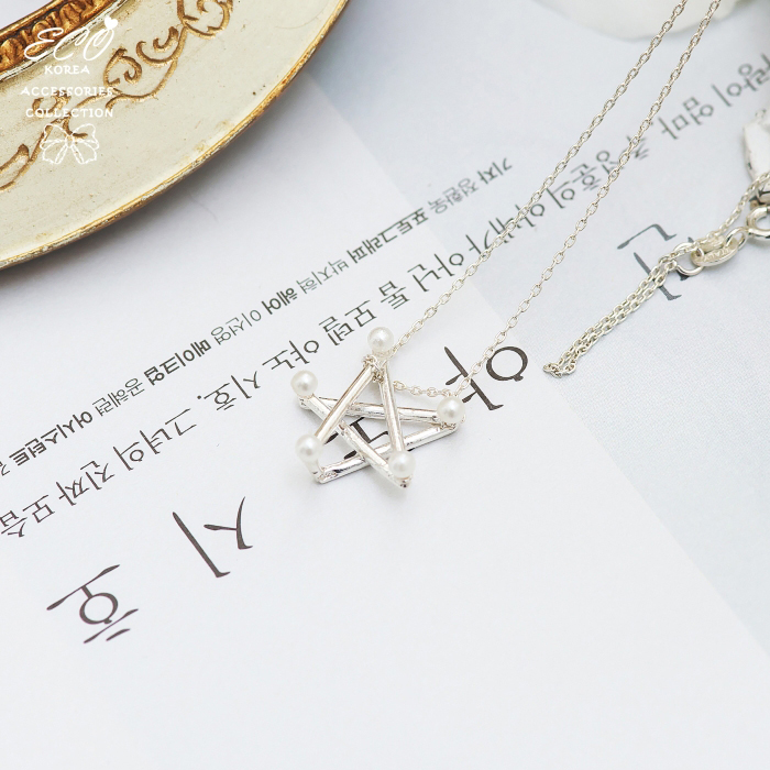 韓劇沒關係是愛情啊,孔孝真,星星,珍珠,線圈,925純銀項鍊,純銀飾品