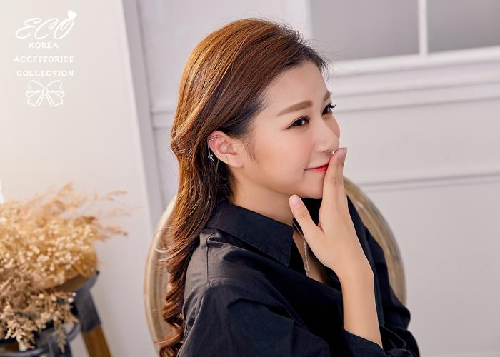 可愛,線圈,蝴蝶結,耳骨夾,夾式耳環,無耳洞耳環,韓製,韓國,耳環