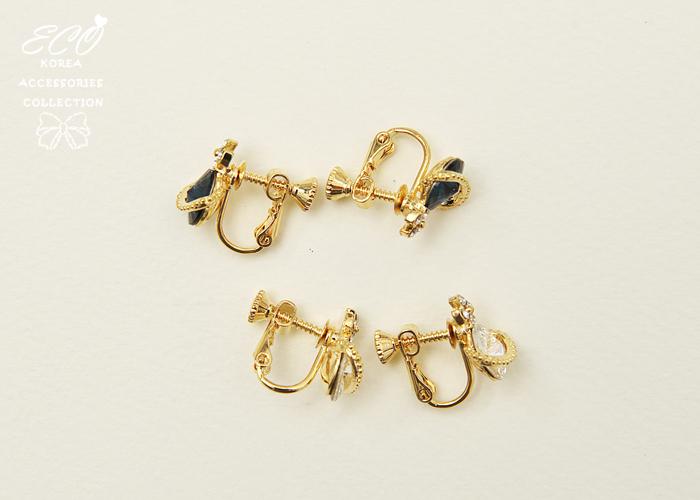 星球,鑽,時尚,夾式耳環,無耳洞耳環,韓製,韓國,耳環