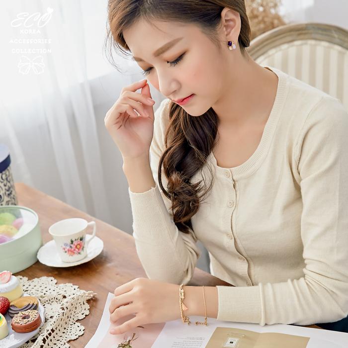 愛心,珠珠,流蘇,三件組,手鍊,韓國製手鍊,韓國飾品,手環