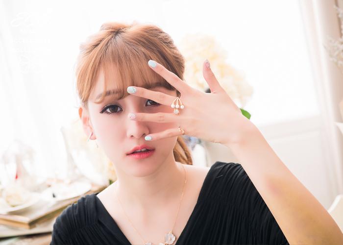 細邊,雙蝴蝶結,可愛,鑽,韓製,韓國,韓貨,戒指