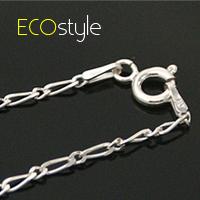 ●ECO安珂●【Esn006】義大利925純銀項鍊18吋~8字細銀鍊