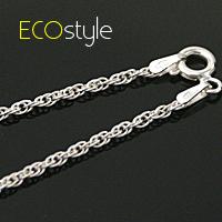 ●ECO安珂●【Esn009】義大利925純銀項鍊18吋~繽紛細銀鍊