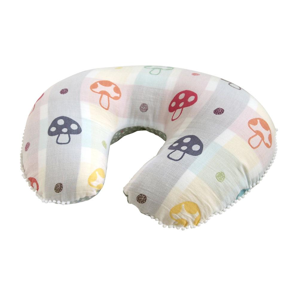 現貨 日本 Hoppetta 蘑菇多用途哺乳枕 授乳枕 U型枕 月亮枕 孕婦枕 支撐枕