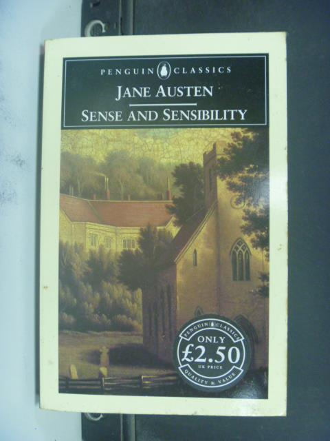 【書寶二手書T1/原文小說_KHS】Sense and Sensibility_Jane Austen