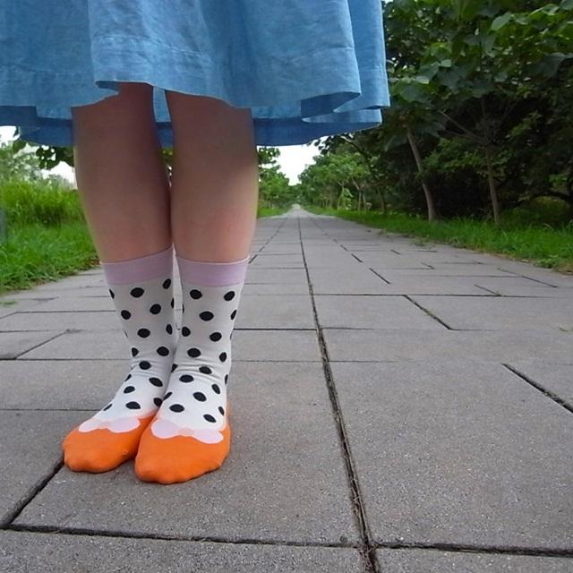 黑荳荳 少女鞋禮物棉襪/黑白配 MIT社頭襪子