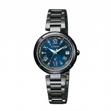 CITIZEN 40周年限定限量款天然鑽石電波時計光動能錶/EC1116-56L