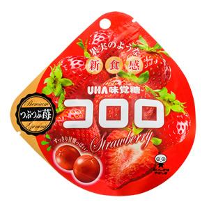 [人氣日本零食]UHA味覺糖100%果汁草莓軟糖  40g *期間限定*