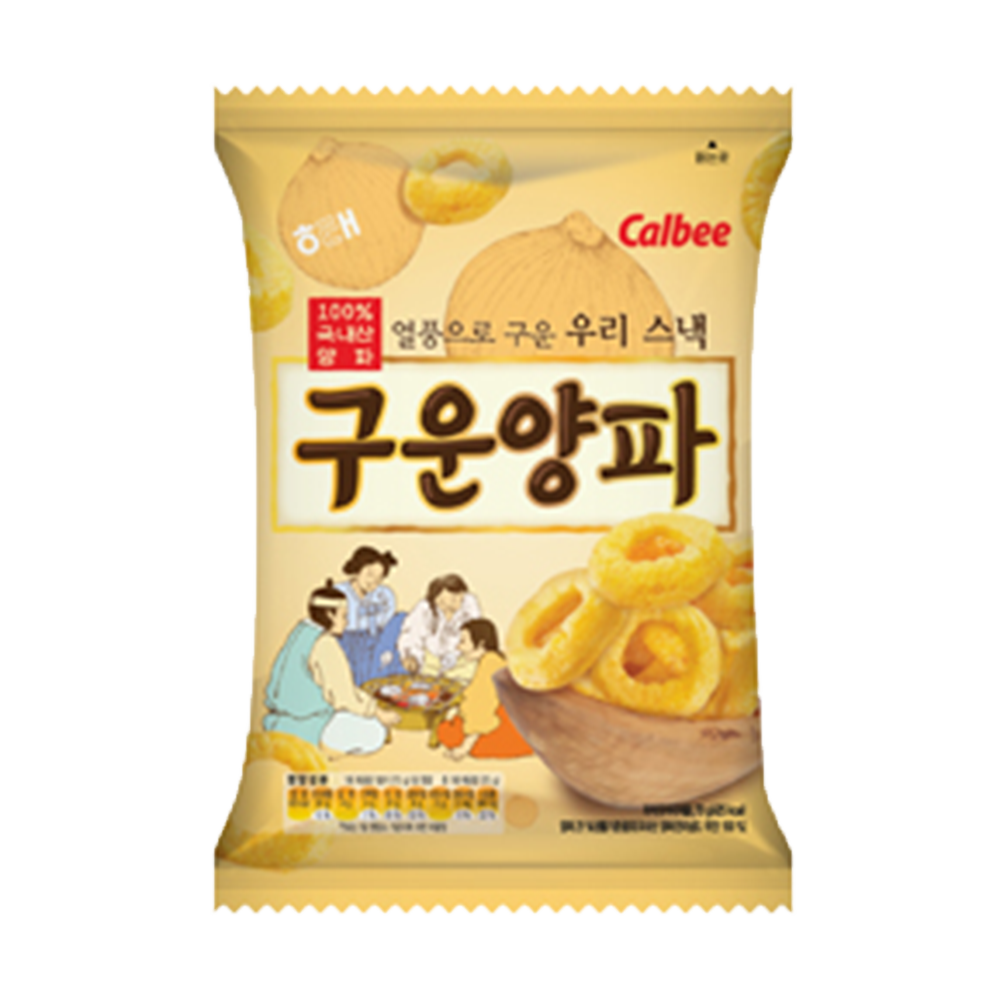 韓國進口 Calbee 海太-烘烤洋葱圈餅乾70g