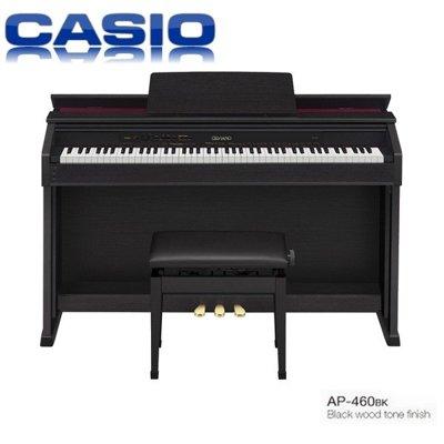 『非凡樂器』卡西歐CASIO AP460 /黑色木質色調/CELVIANO 數位鋼琴/台灣卡西歐原廠公司貨