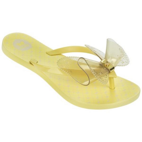 [陽光樂活]Zaxy巴西(童)蝴蝶人字拖鞋 FRESH BUTTERFLY-ZA8184990242鵝黃