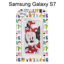 迪士尼透明軟殼 [素描] 米妮 Samsung G930FD Galaxy S7【Disney正版授權】