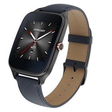 ASUS ZenWatch2 1.63 真皮伯爵藍 大錶/聰明聲控/磁吸式快充/iOS/Android/真皮時尚質感錶帶/智慧穿戴/智能手錶/健康管理/禮品/贈品/TIS購物館