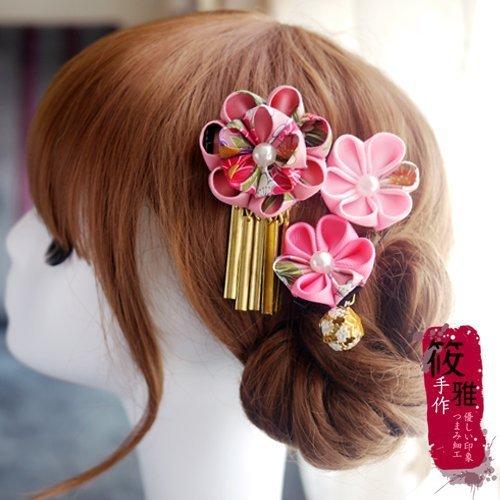 和風頭飾日式布花 藝妓頭飾 新娘頭飾設計 獨家手工和風髮飾 浴衣和服造型頭飾 筱雅衣舖【D27】2色