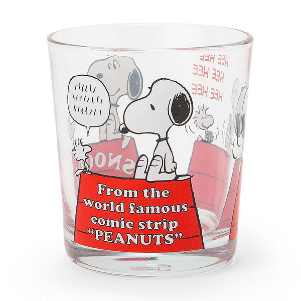 【真愛日本】16042700007玻璃水杯-SN與塔克紅屋    史努比 SNOOPY 玻璃杯 水杯 正品