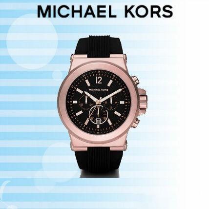 【限時8折 全店滿5000再9折】Michael Kors MK 三眼 玫瑰金錶面 精鋼 手錶 腕錶 MK8184 美國Outlet 正品代購