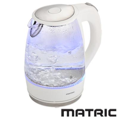 日本松木 MATRIC 彩漾LED 1.7L  玻璃快煮壺 MG-KT1701 / 空燒自動斷電 / 出水口濾網