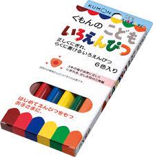 日本 Kumon 彩色三角鉛筆 三角形色鉛筆 6支入 *夏日微風*