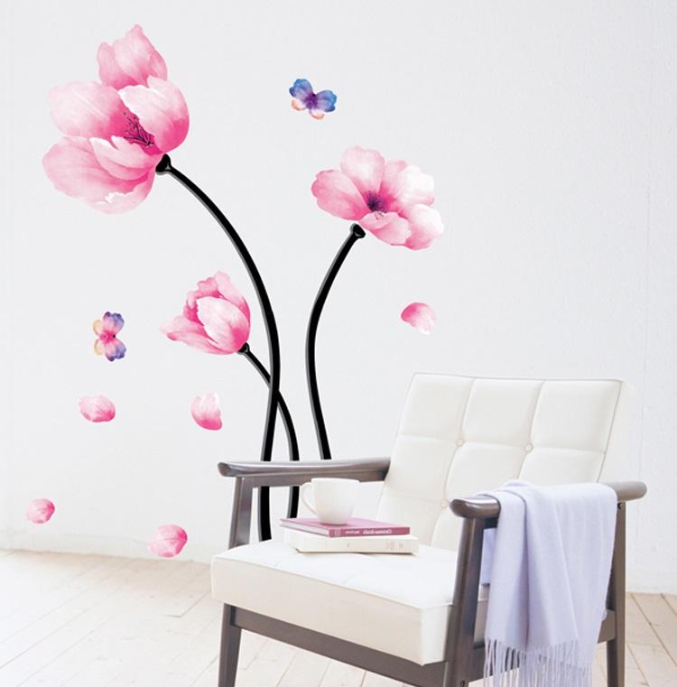【壁貼王國】 園藝系列無痕壁貼 《粉紅花卉 - AY930》