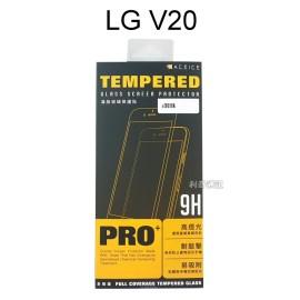 【ACEICE】滿版鋼化玻璃保護貼 LG V20 (黑)