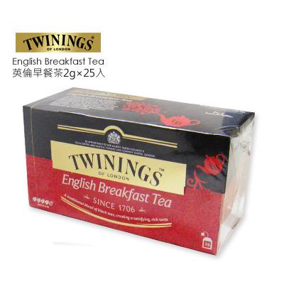 英國【TWININGS 唐寧】英倫早餐茶2g*25入/盒