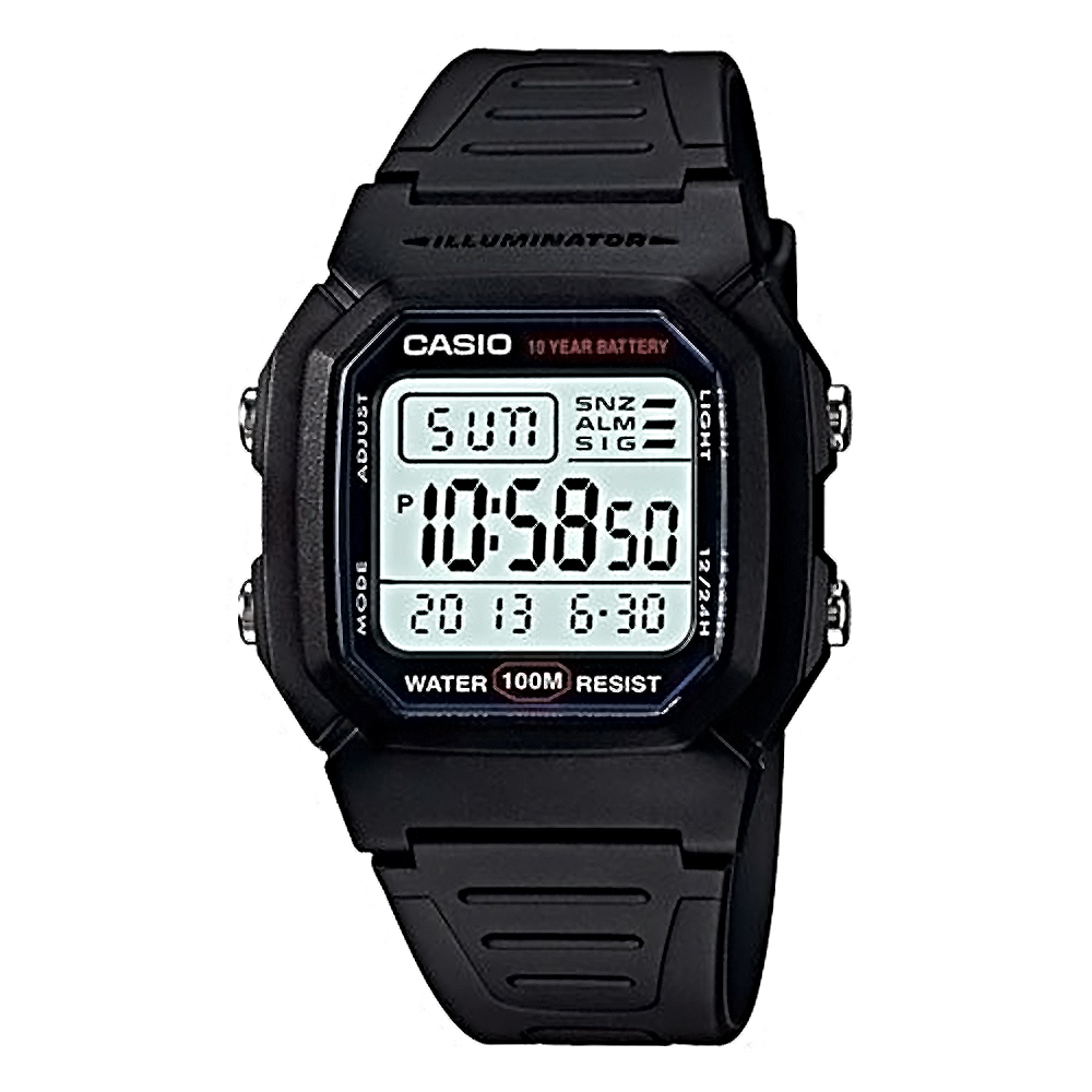 CASIO 卡西歐 W-800H 日系耐久黑武士多功能防水電子錶
