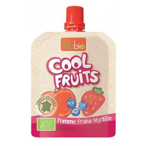 【安琪兒】法國【倍優babybio】VITABIO 有機優鮮果-蘋果、草莓、藍莓90g(12個月以上)