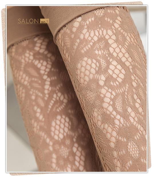 {55折} 義大利Pierre Mantoux 時髦浪漫蕾絲花朵及膝襪 原裝進口