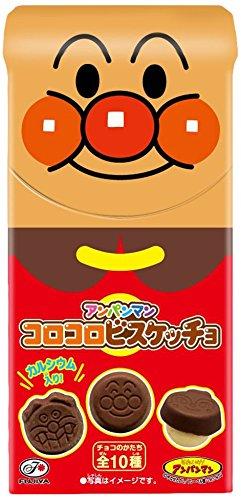 日本*不二家-麵包超人原形餅乾巧克力 34g