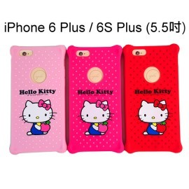 Hello Kitty防震矽膠保護套 [俏皮] iPhone 6 Plus / 6S Plus (5.5吋)【三麗鷗正版授權】