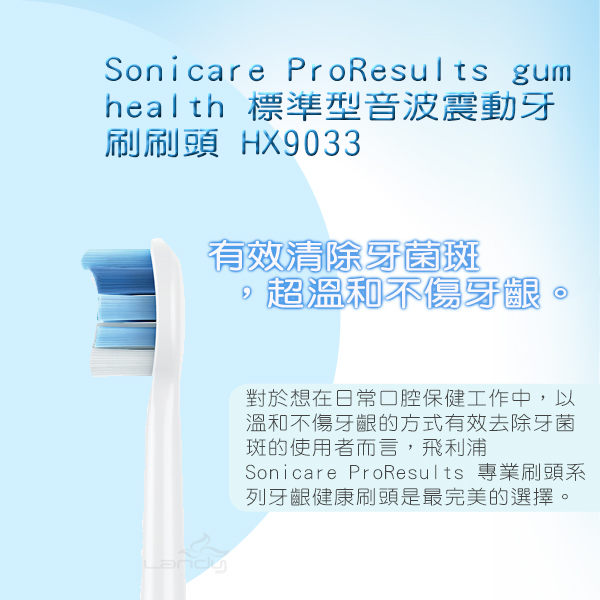 免運費 PHILIPS飛利浦 護齦音波震動牙刷標準刷頭/電動牙刷頭(一盒3入) HX9033