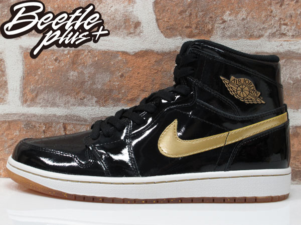 西門町 BEETLE PLUS 全新 NIKE AIR JORDAN 1 RETRO HIGH OG BLACK GOLD AJ 1 亮皮 一代 黑金 555088-019