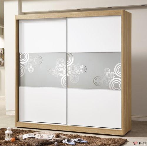 【日本直人木業】LONDON白色生活210CM衣櫃