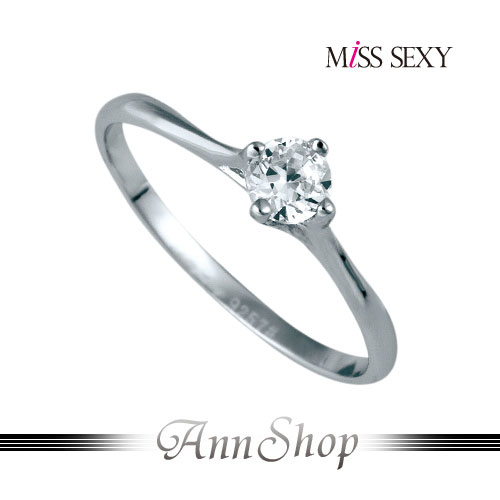 AnnShop【MiSS SEXY•雅緻記號925純銀戒指】【單個】情人禮品MG056