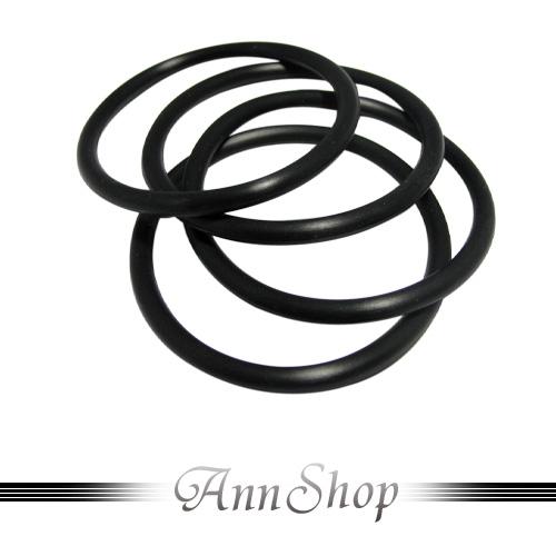 AnnShop【黑色矽膠手環.矽膠】小安的店銀飾精品龐克街頭飾品(in31)