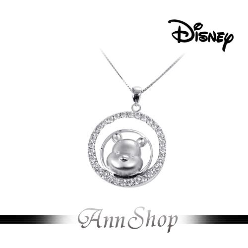 AnnShop小安的店【迪士尼‧維尼滿天星項鍊】【限量預購】純銀水鑽星星飾品S1WP046