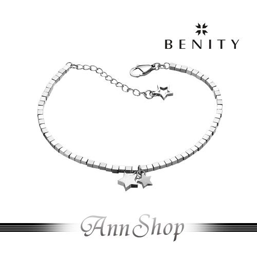 AnnShop【貝那堤BENITY•星夜星塵白鋼手鍊】情人禮物 EGB0443