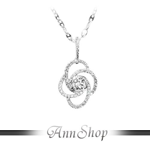AnnShop【環繞身邊鋯石K金項鍊•375K金】可客製化鑽石珠寶銀飾禮品NP128