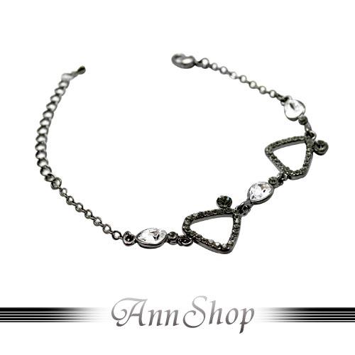 AnnShop【魅力精品.三角白圓鑽手鍊】情人禮物b855