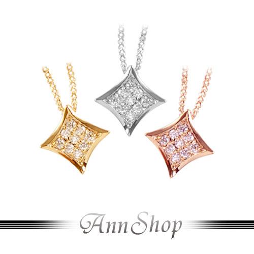 AnnShop【魅力精品.菱形晶鑽項鍊】情人禮物n86-n86-1-n86-2