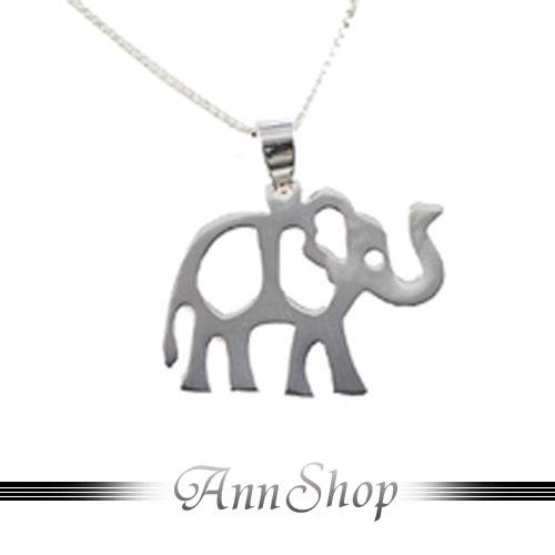 AnnShop【質感大象純銀項鍊•925純銀】銀飾精品專賣不退色民俗風雕花n9074