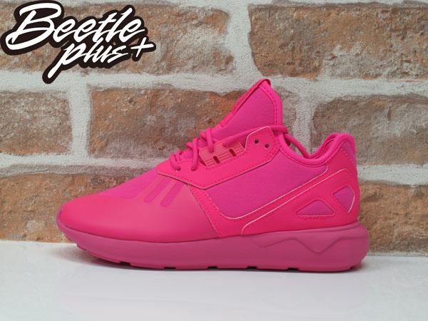 女生BEETLE ADIDAS TUBULAR RUNNER K 愛迪達 粉紅 純色 Y-3平民版 慢跑鞋 S78726