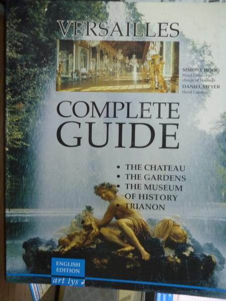 【書寶二手書T1/藝術_QXP】Versailles:complete guide_Simone